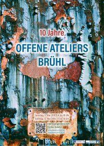 Plakat zu den Offene Ateliers 2019 in Brühl.